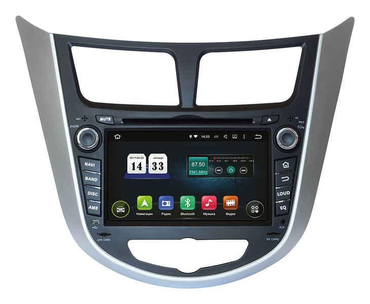 Магнитола штатная головная на Hyundai Accent 2011+ TSA-2487 2 din магнитолаINCar Android 8.0