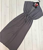 Пляжная длинная туника шифоновая, одежда пляжная.