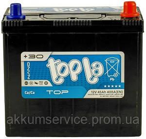 Аккумулятор автомобильный ToplaTop Asia MF 45AH R+ 400A (54523/84 MF)