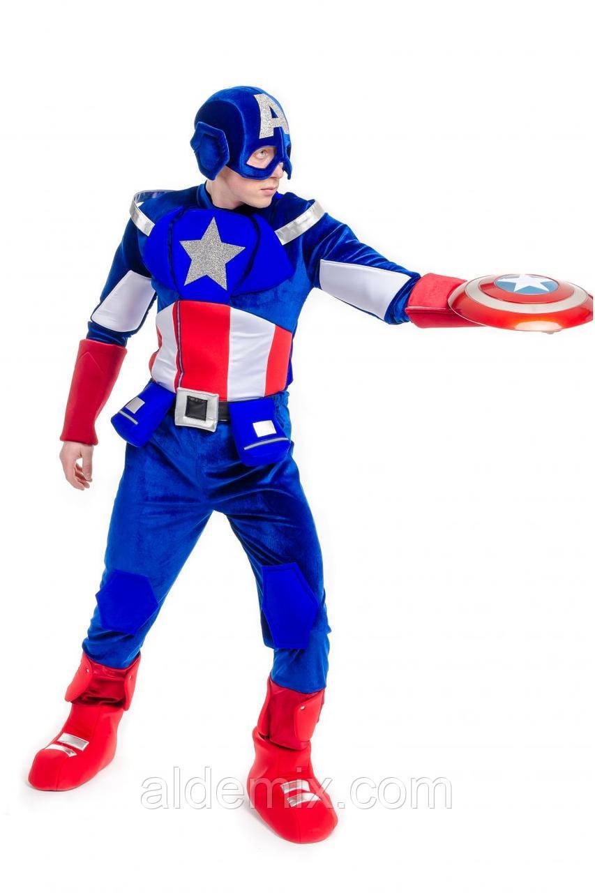 """""""Капитан Америка"""" карнавальный костюм для взрослых ..."""