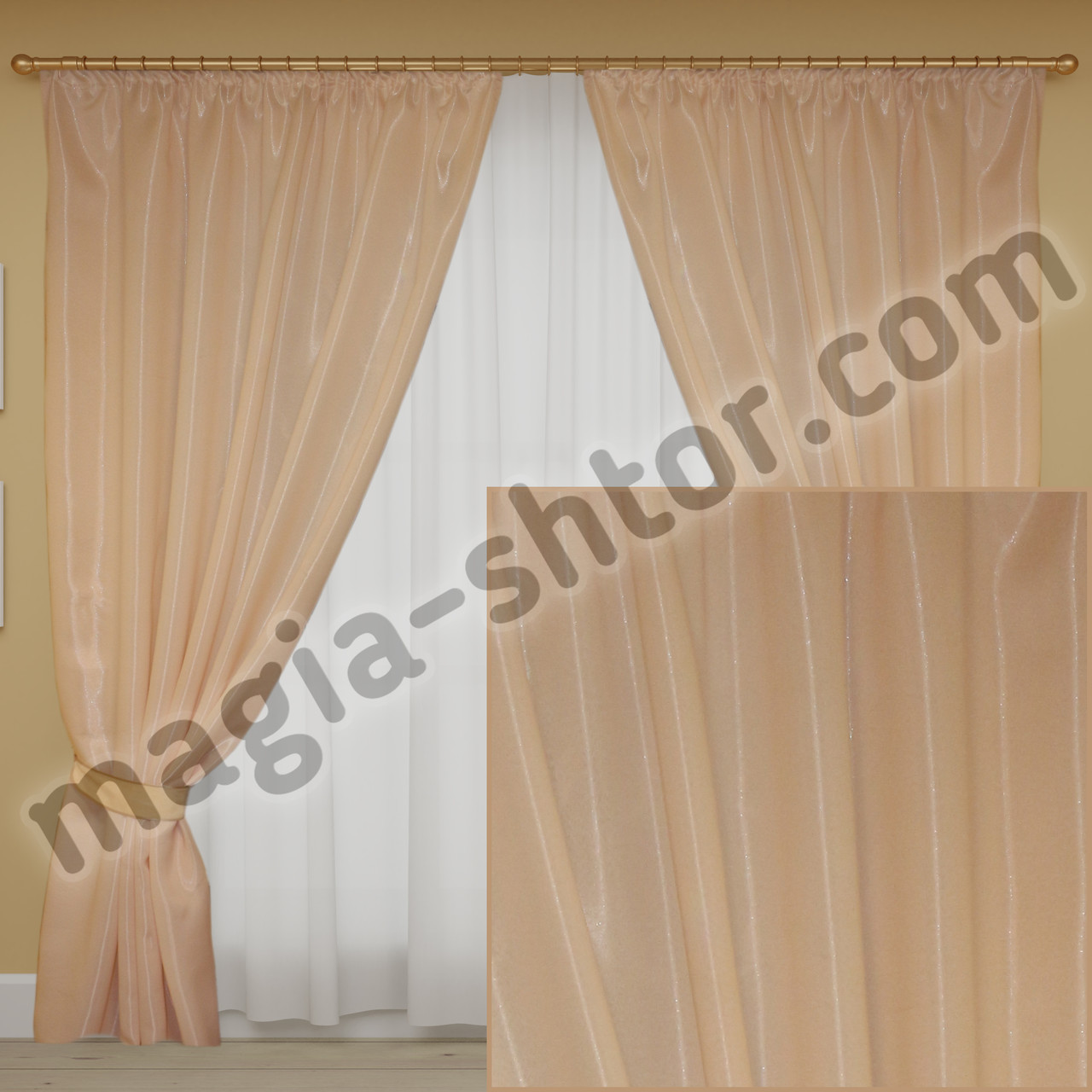 Готовые шторы. Ткань монорей