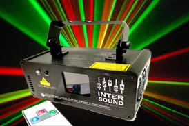 Динамический лазер RGY Цветомузыка диско