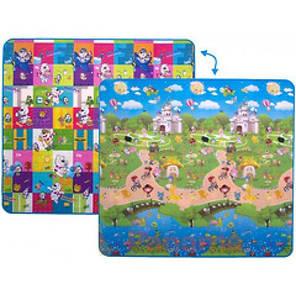 """Дитячий двосторонній розвиваючий килимок Limpopo """"Ведмежата і прогулянка з друзями"""" 180х200 см, фото 2"""
