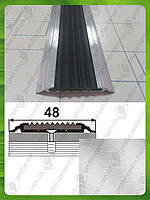 Противоскользящая накладка на ступени плоская УЛ 150. Без покрытия, 3.0м