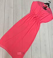 Малиновая шифоновая туника, пляжная одежда.