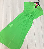 Яркая пляжная туника из шифона, одежда пляжная.