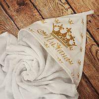 Детское именное  махровое банное  полотенце - уголок , фото 1