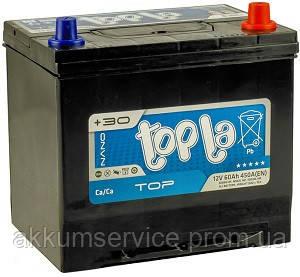 Аккумулятор автомобильный ToplaTop Asia 60AH L+ 600A (56069 MF)