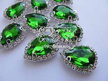 Крапля 14*24 Emerald в цапах