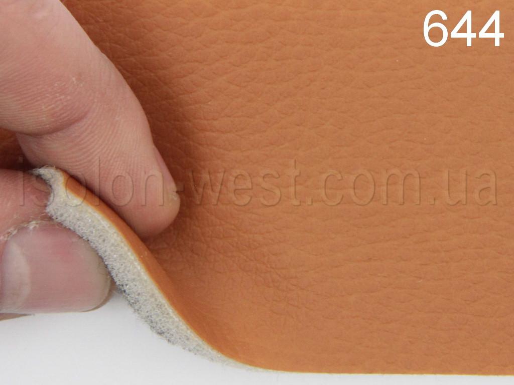 Авто кожзам оранжевый, на поролоне и войлоке, 644