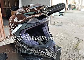 Шлем для мотоцикла Hel-Met 116 кроссовый Black Q152-O XS/S