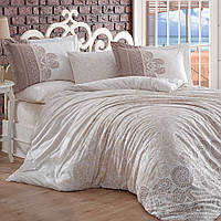 Комплект постельного белья Hobby Flannel Irene бежевый Двуспальный евро комплект