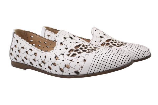 Туфли , балетки женские летние Mario Muzi натуральная кожа, цвет белый