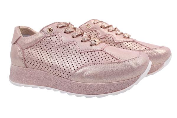 Туфли комфорт Vensi натуральный сатин, цвет пудра