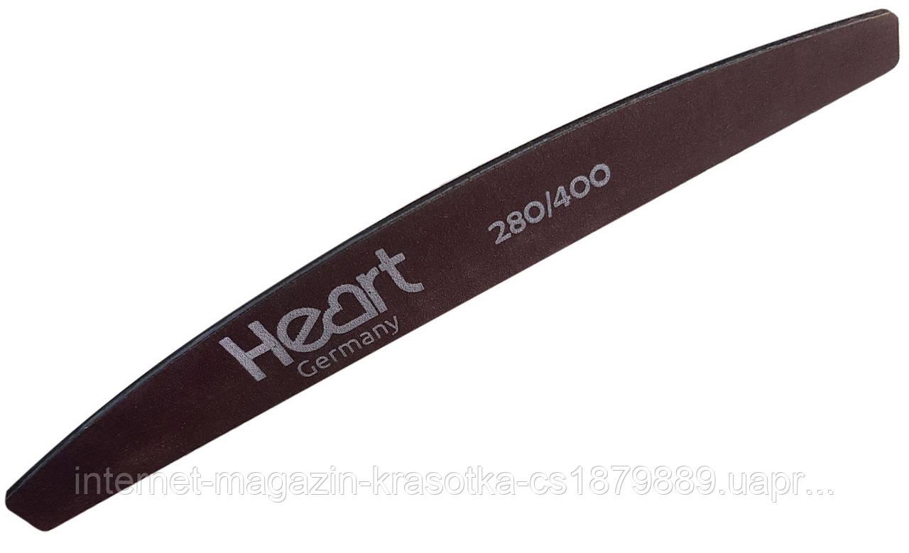 Пилка для ногтей  HEART  Half BROWN TITAN 100/180 тонкие дезенфицируемые пилки на титановой основе