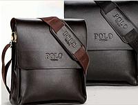 Деловая Мужская кожаная сумка портфель Поло віденг
