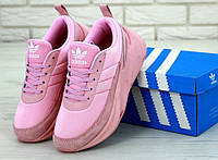 Кроссовки женские розовые стильные модные Adidas Sharks Адидас Шаркс