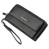 Стильный мужской кошелёк-портмоне Baellerry черного цвета
