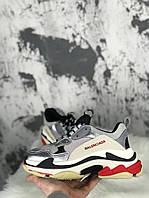 Женские кроссовки Balenciaga Triple S Silver, Реплика, фото 1