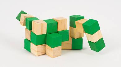 Деревянная игрушка-головоломка. 3 цвета