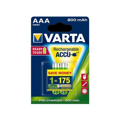 Аккумуляторы Varta Rechargeable Accu AAA 800 mAh - (2шт.)