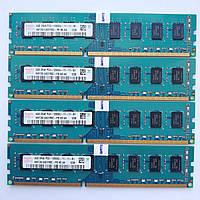 Комплект оперативной памяти Hynix DDR3 16Gb (4*4Gb) 1600MHz PC3 12800U 2R8 CL11 (HMT351U6CFR8C-PB N0 AA) Б/У