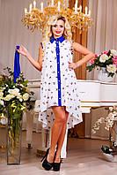 Модное молодежное платье короткое со шлейфом , фото 1