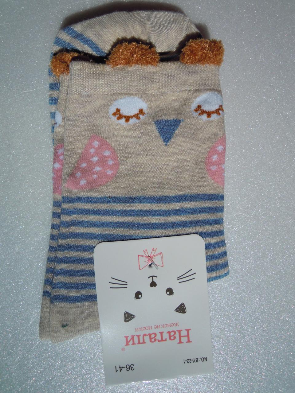 Шкарпетки Жіночі з вушками (пташка), розмір 36-40
