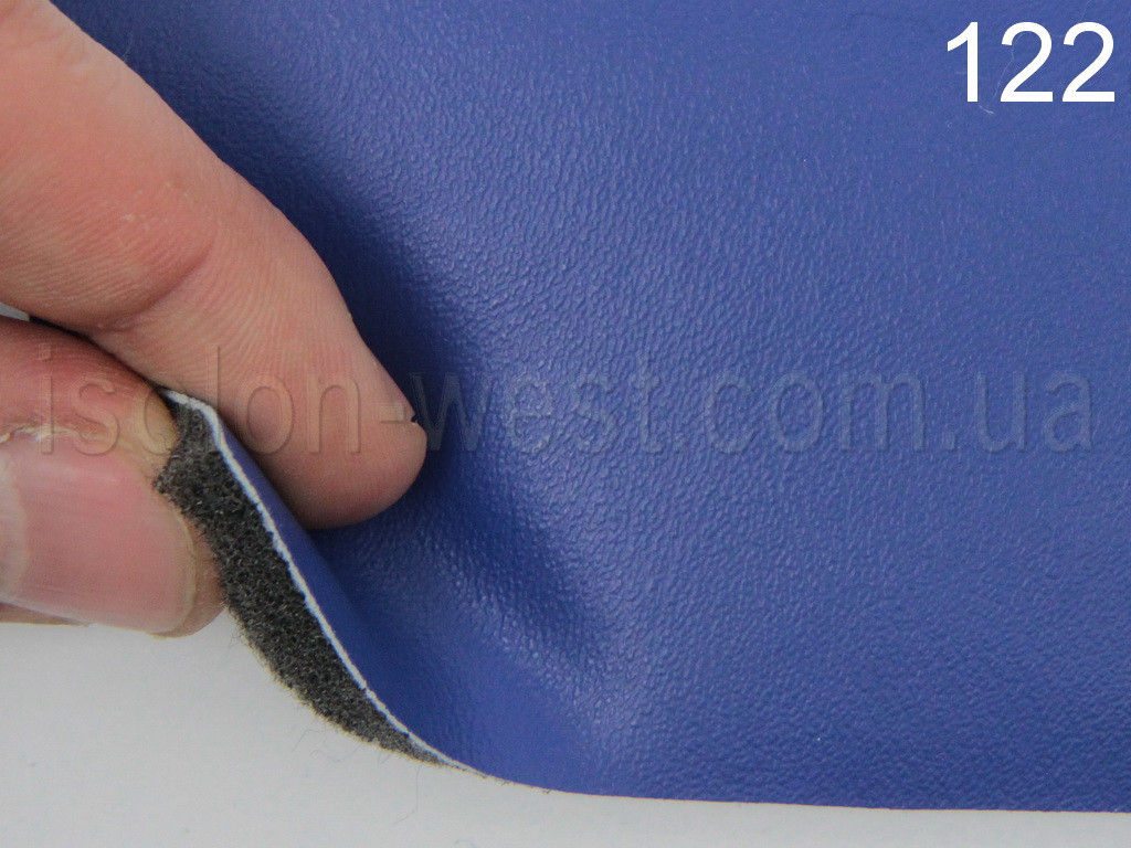 Авто кожзам синий, на поролоне и войлоке 7 мм, 122
