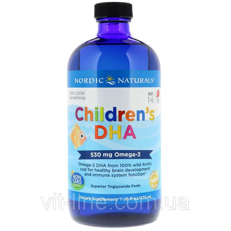 Nordic Naturals ДГК Омега-3 для детей, со вкусом клубники, (473 мл)