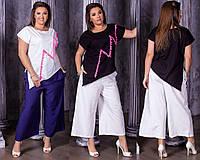 Женская модная футболка  НИ0188 (бат)