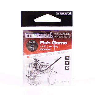 Крючок Metsui FISH GAME №6 одинарный (12 шт.)
