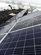Монтаж солнечных батарей.