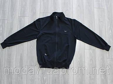 Кофта спортивная мужская Батал (56-62р) Nike синяя Турция реплика