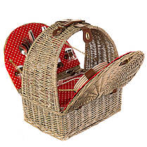 Корзина для пикника с сумкой-холодильником на 4 персоны (020PPN), фото 2