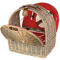 Корзина для пикника с сумкой-холодильником на 4 персоны (020PPN)