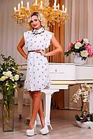 Модное молодежное короткое платье с интересным принтом, фото 1