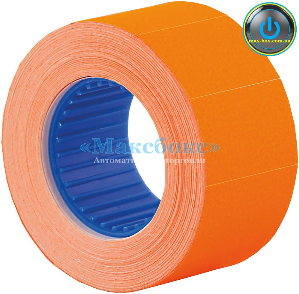 Этикет лента оранжевая 26 х 16 мм прямоугольная