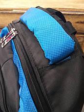 Школьный прочный рюкзак из плотного непромокаемого материала, на 4 отдела, фото 3