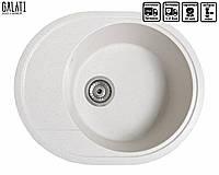Кухонная мойка гранитная Galati Voce Biela (101) 3213 белый