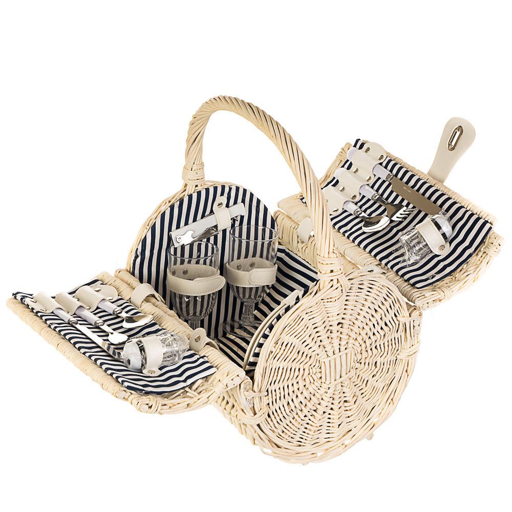 Корзина-сумка с ручкой для пикника на 2 персоны (021PPN)