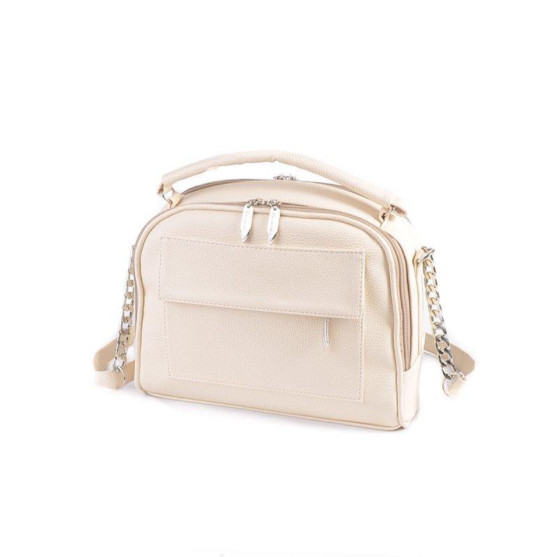 201f9402ce0a Бежевая сумка М200-64 летняя маленькая через плечо портфельчик, фото 1