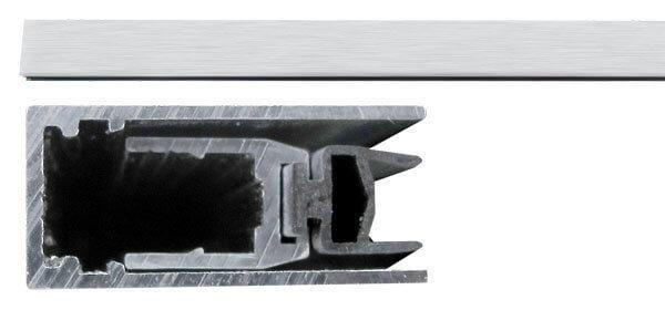Порог противопожарный алюминиевый с резиновой вставкой Comaglio 420 (83-63см)
