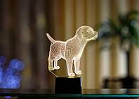 """Сменная пластина для 3D светильников """"Лабрадор"""" 3DTOYSLAMP, фото 1"""
