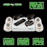 Комплект 4 внутренник купольных AHD камеры, 1 Mp (1280х720), HD - Green Vision GV-K-G01/04 720Р