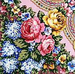 Домашний очаг 1829-2, павлопосадский платок шерстяной  с шелковой бахромой, фото 3