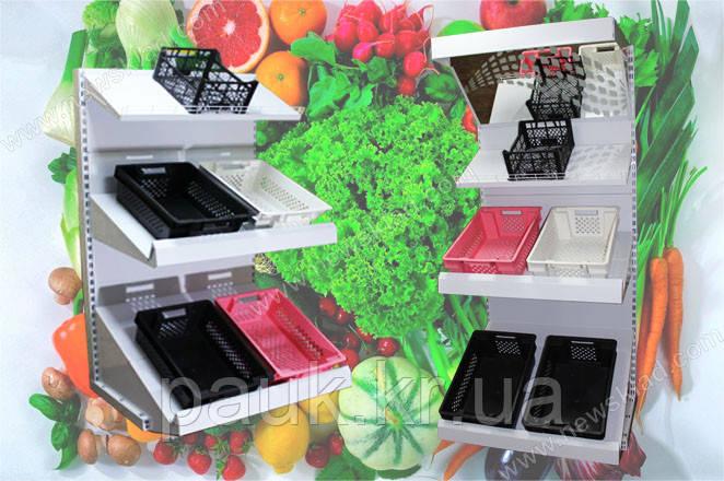 Торгівельний овочевий стелаж