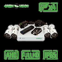 Комплект 4 уличных AHD камеры, 2 Mp (1920х1080), Full HD - Green Vision GV-K-S13/04 1080P