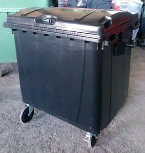 Пластиковий євроконтейнер для сміття ТПВ 1100 л.