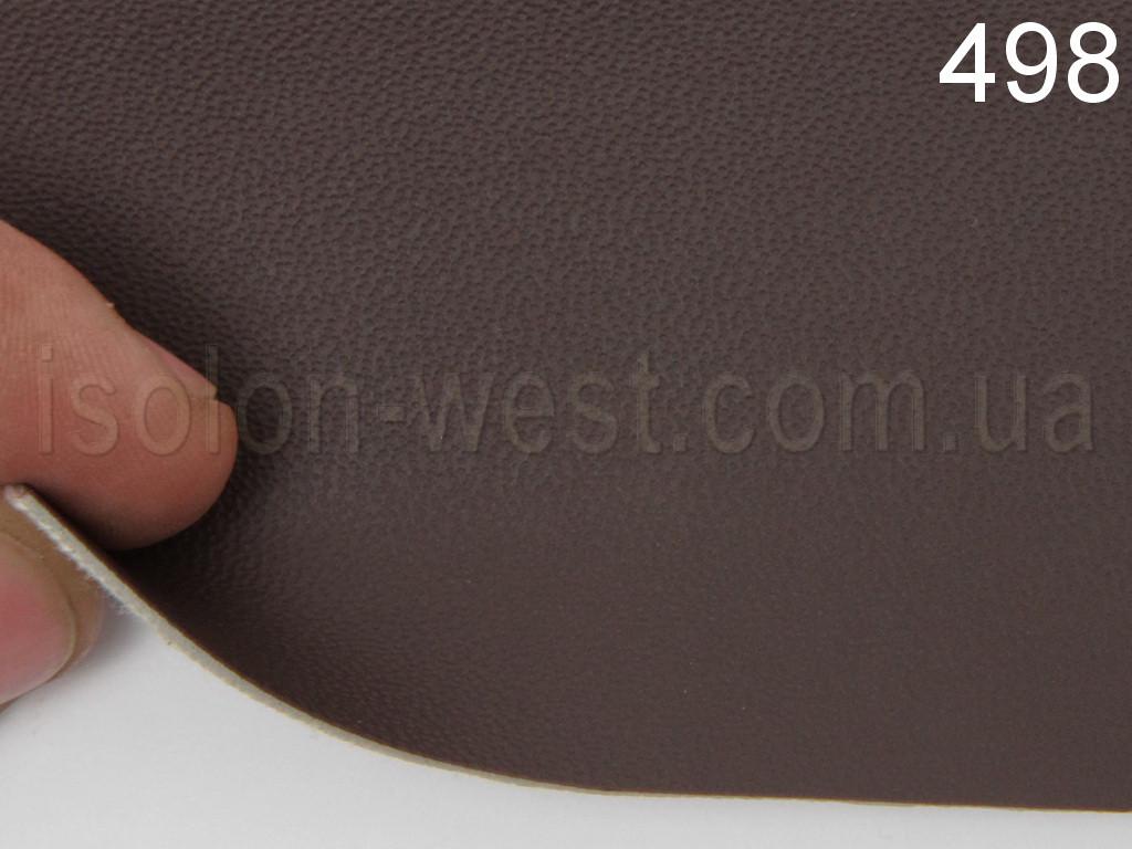 Авто кожзам темно-коричневой 498, на тканевой основе, ширина 1.60м